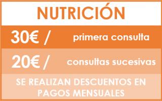 tarifas nutricion